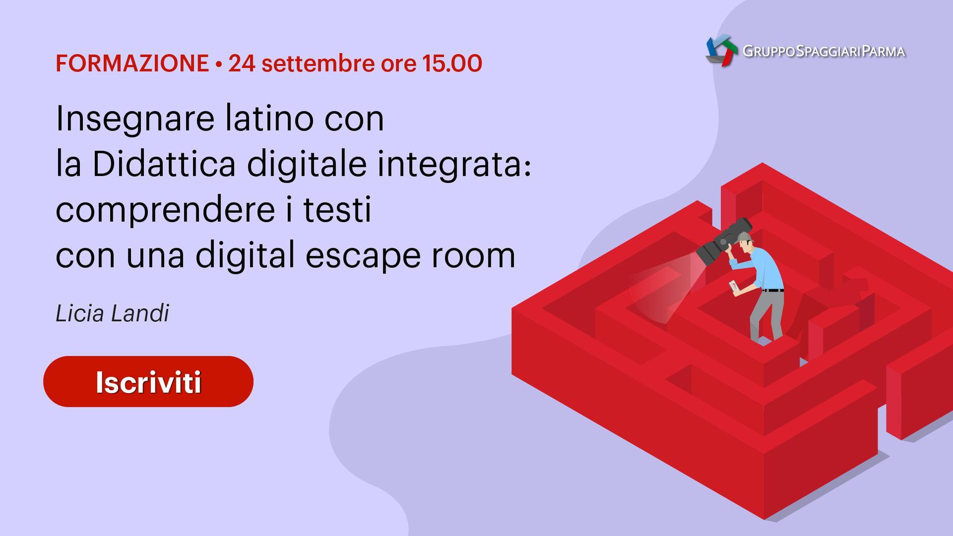Insegnare latino con la Didattica digitale integrata: comprendere i testi con una digital escape room